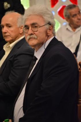 Ο Πρόεδρος της Ένωσης Ομογενών εκ Κωνσταντινουπόλεως Βορείου Ελλάδος Πολύβιος Στράντζαλης | Φωτογραφία: Δημοσθένης Τσαβδαρίδης
