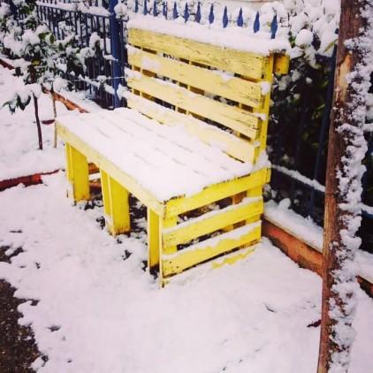 Χρήστος Πολυχρονιάδης, το κίτρινο παγκάκι στην οδό Καρκαβίτσα